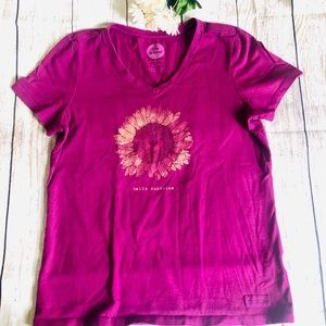 ✨ Life is good T-Shirt , burgundy color.